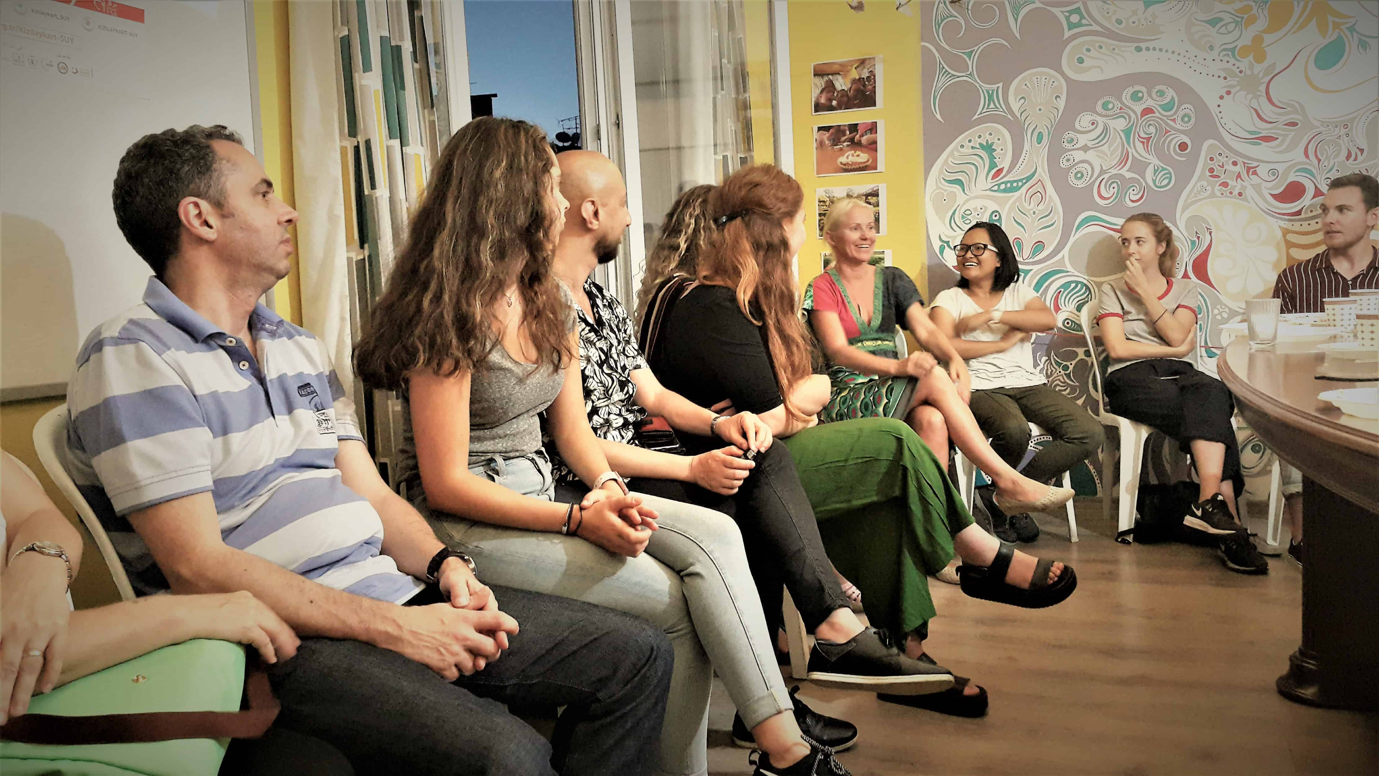 volunteer gathering at istanbul community center