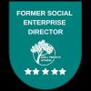 Former social enterprise director badge